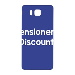 Pensioners Discount Sale Blue Samsung Galaxy Alpha Hardshell Back Case by Mariart