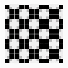 Plaid Black White Medium Glasses Cloth by Mariart