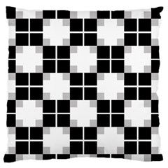 Plaid Black White Standard Flano Cushion Case (two Sides) by Mariart