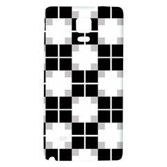 Plaid Black White Galaxy Note 4 Back Case by Mariart