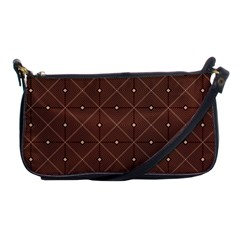 Coloured Line Squares Brown Plaid Chevron Shoulder Clutch Bags by Mariart