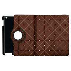 Coloured Line Squares Brown Plaid Chevron Apple Ipad 2 Flip 360 Case by Mariart