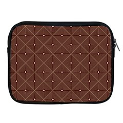 Coloured Line Squares Brown Plaid Chevron Apple Ipad 2/3/4 Zipper Cases by Mariart