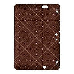 Coloured Line Squares Brown Plaid Chevron Kindle Fire Hdx 8 9  Hardshell Case by Mariart