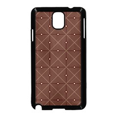 Coloured Line Squares Brown Plaid Chevron Samsung Galaxy Note 3 Neo Hardshell Case (black) by Mariart