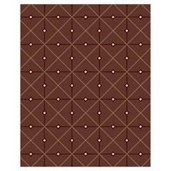 Coloured Line Squares Brown Plaid Chevron Drawstring Bag (small) by Mariart