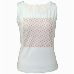 Plaid Star Flower Iron Women s White Tank Top by Mariart