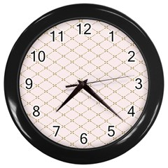 Plaid Star Flower Iron Wall Clocks (black) by Mariart