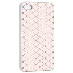 Plaid Star Flower Iron Apple Iphone 4/4s Seamless Case (white) by Mariart