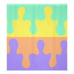 Puzzle Gender Shower Curtain 66  X 72  (large)  by Mariart