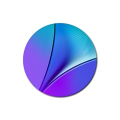 Line Blue Light Space Purple Rubber Coaster (round)  by Mariart
