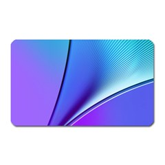 Line Blue Light Space Purple Magnet (rectangular) by Mariart