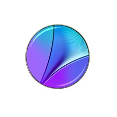 Line Blue Light Space Purple Hat Clip Ball Marker by Mariart