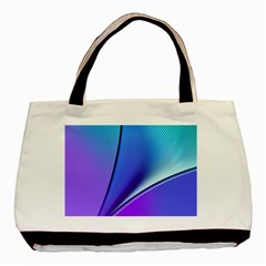 Line Blue Light Space Purple Basic Tote Bag by Mariart