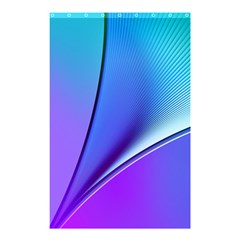 Line Blue Light Space Purple Shower Curtain 48  X 72  (small)  by Mariart