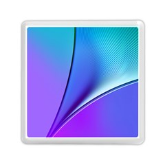 Line Blue Light Space Purple Memory Card Reader (square)  by Mariart