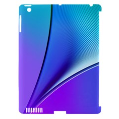 Line Blue Light Space Purple Apple Ipad 3/4 Hardshell Case (compatible With Smart Cover) by Mariart