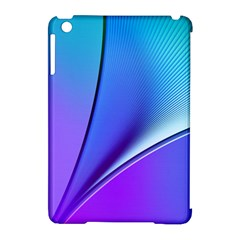 Line Blue Light Space Purple Apple Ipad Mini Hardshell Case (compatible With Smart Cover) by Mariart