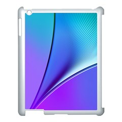 Line Blue Light Space Purple Apple Ipad 3/4 Case (white) by Mariart