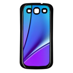 Line Blue Light Space Purple Samsung Galaxy S3 Back Case (black) by Mariart