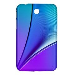 Line Blue Light Space Purple Samsung Galaxy Tab 3 (7 ) P3200 Hardshell Case  by Mariart