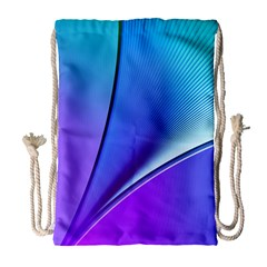 Line Blue Light Space Purple Drawstring Bag (large) by Mariart