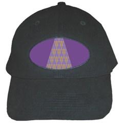 Pyramid Triangle  Purple Black Cap by Mariart