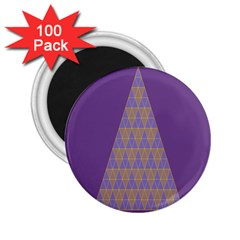 Pyramid Triangle  Purple 2 25  Magnets (100 Pack)  by Mariart
