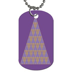 Pyramid Triangle  Purple Dog Tag (two Sides) by Mariart