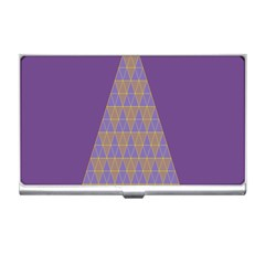 Pyramid Triangle  Purple Business Card Holders by Mariart
