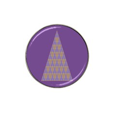 Pyramid Triangle  Purple Hat Clip Ball Marker by Mariart