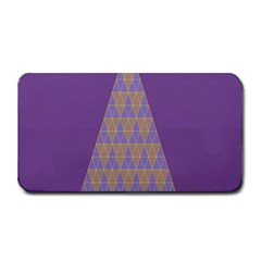 Pyramid Triangle  Purple Medium Bar Mats by Mariart