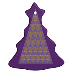 Pyramid Triangle  Purple Christmas Tree Ornament (two Sides) by Mariart