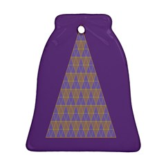 Pyramid Triangle  Purple Bell Ornament (two Sides) by Mariart
