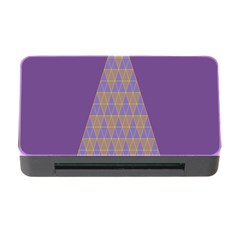 Pyramid Triangle  Purple Memory Card Reader With Cf by Mariart