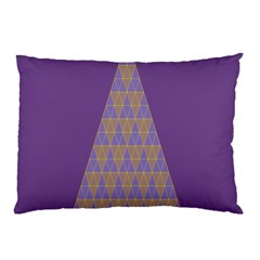 Pyramid Triangle  Purple Pillow Case (two Sides) by Mariart