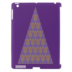 Pyramid Triangle  Purple Apple Ipad 3/4 Hardshell Case (compatible With Smart Cover) by Mariart