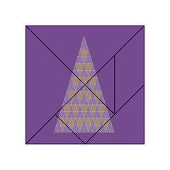 Pyramid Triangle  Purple Acrylic Tangram Puzzle (4  X 4 ) by Mariart