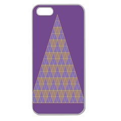 Pyramid Triangle  Purple Apple Seamless Iphone 5 Case (clear) by Mariart