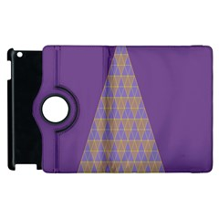 Pyramid Triangle  Purple Apple Ipad 3/4 Flip 360 Case by Mariart