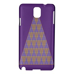 Pyramid Triangle  Purple Samsung Galaxy Note 3 N9005 Hardshell Case by Mariart