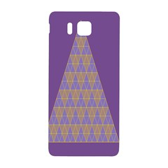 Pyramid Triangle  Purple Samsung Galaxy Alpha Hardshell Back Case by Mariart