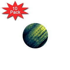 Polygon Dark Triangle Green Blacj Yellow 1  Mini Magnet (10 Pack)  by Mariart