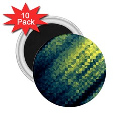 Polygon Dark Triangle Green Blacj Yellow 2 25  Magnets (10 Pack)  by Mariart