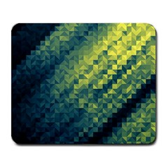 Polygon Dark Triangle Green Blacj Yellow Large Mousepads by Mariart
