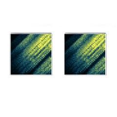 Polygon Dark Triangle Green Blacj Yellow Cufflinks (square) by Mariart