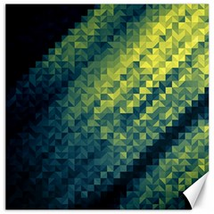 Polygon Dark Triangle Green Blacj Yellow Canvas 20  X 20   by Mariart
