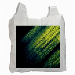 Polygon Dark Triangle Green Blacj Yellow Recycle Bag (two Side)  by Mariart