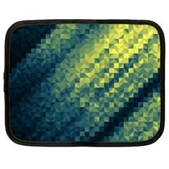 Polygon Dark Triangle Green Blacj Yellow Netbook Case (xl)  by Mariart