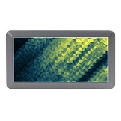 Polygon Dark Triangle Green Blacj Yellow Memory Card Reader (mini) by Mariart